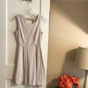 LC Lauren Conrad silver gray dress